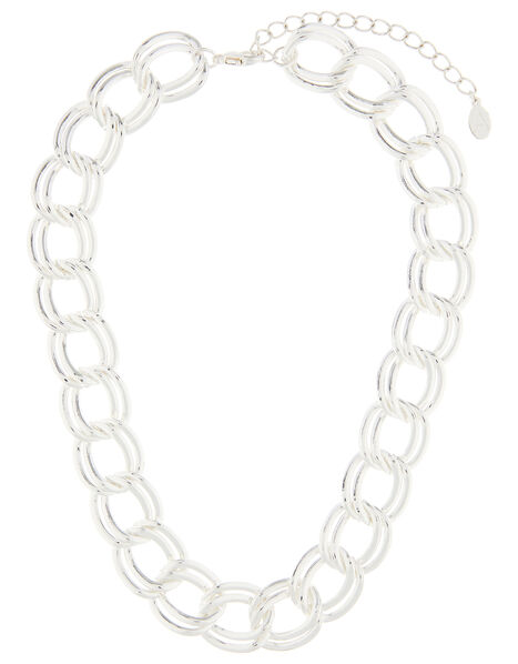 Chunky Double-Layer Chain Necklace, , large