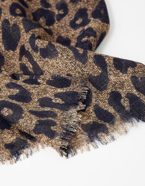 Luna Leopard Print Scarf , , large