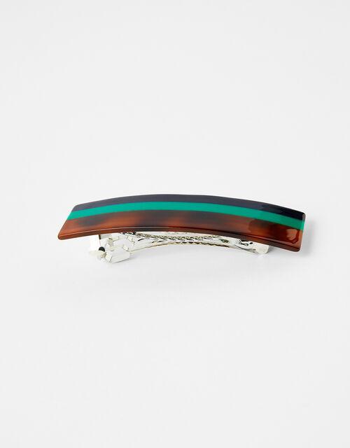 Stripe Barrette Clip, , large