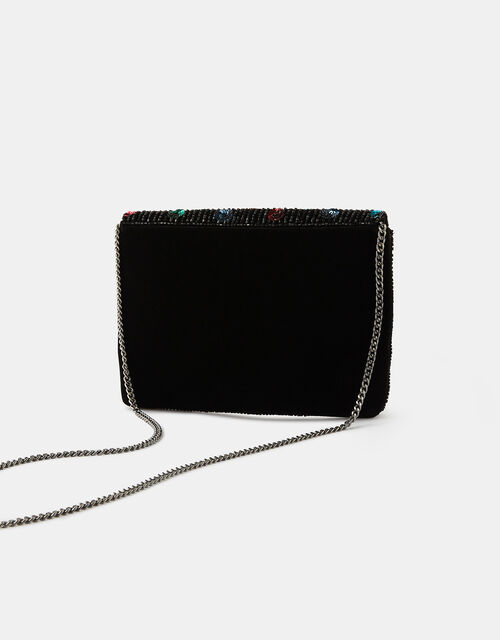 Embellished Polka-Dot Clutch Bag, , large