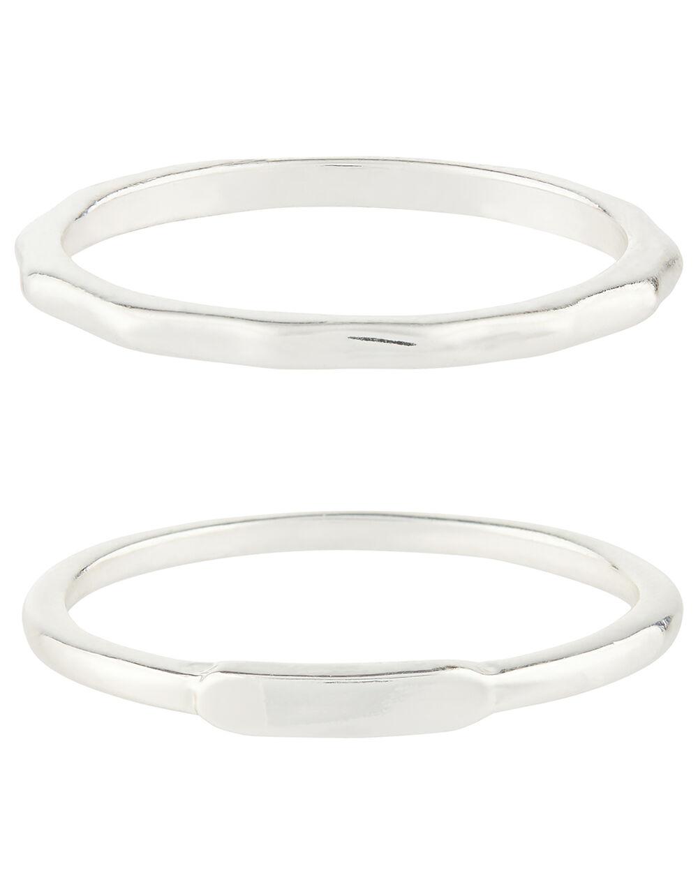 Basic Ring Stacking Set, Silver (SILVER), large