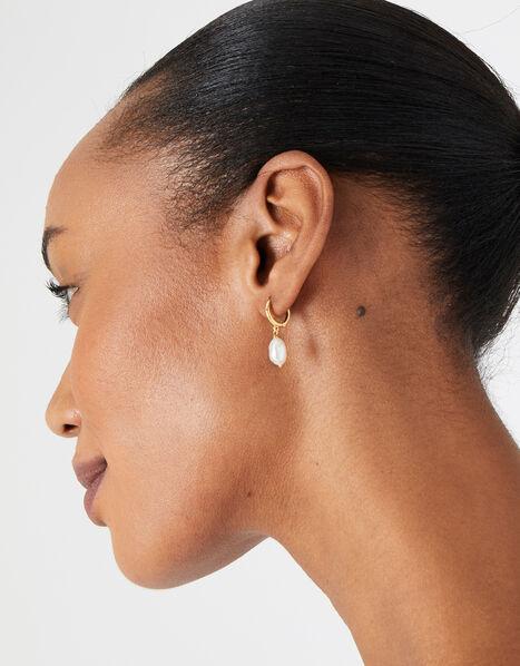 Pearl Hoop Earring Set, , large