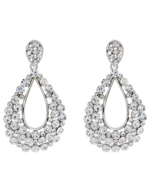 Isabella Crystal Teardrop Earrings, , large