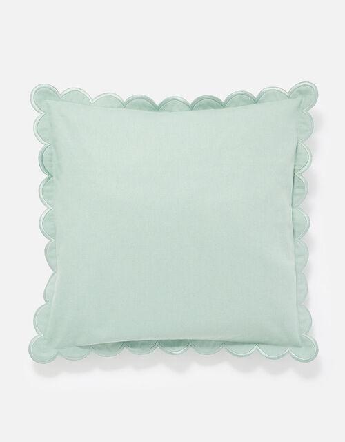 Scallop Edge Cushion Cover, Blue (BLUE), large