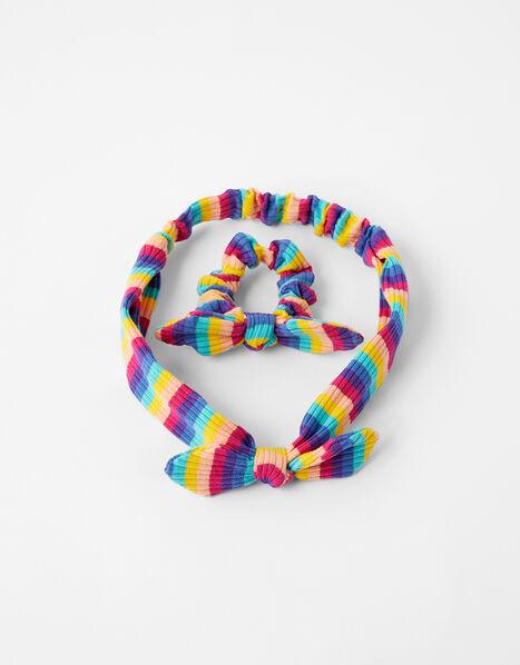 Rainbow Bando and Scrunchie Set, , large