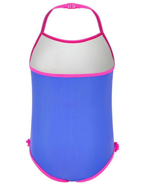 Seahorse Swimsuit with Recycled Polyester, Blue (BLUE), large