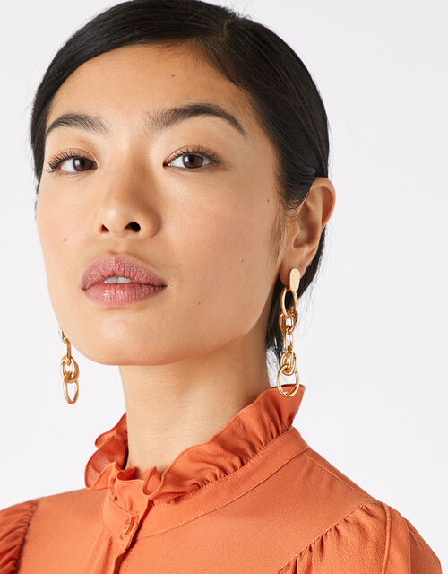 Chain Link Drop Earrings, , large