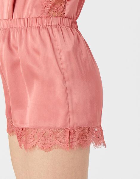 Lace and Satin PJ Set Pink, Pink (PALE PINK), large