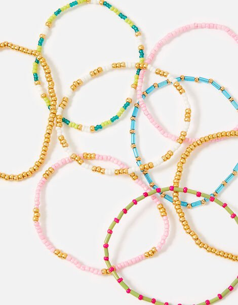 Feel Good Seedbead Stretch Bracelets Multipack , , large