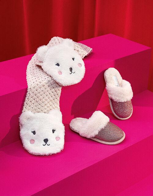 Polar Bear Knit Scarf, , large