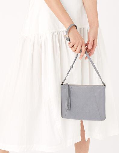Sophie Leather Cross Body Grey, Grey (GREY), large