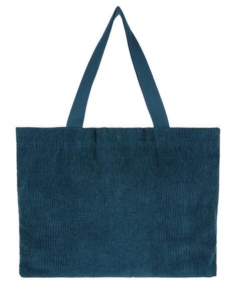 Cord Shopper Bag Teal, Teal (TEAL), large