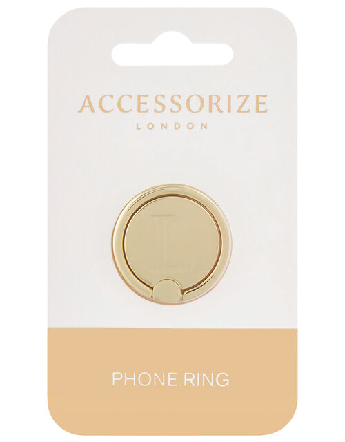 Metallic Initial Phone Ring - L, , large