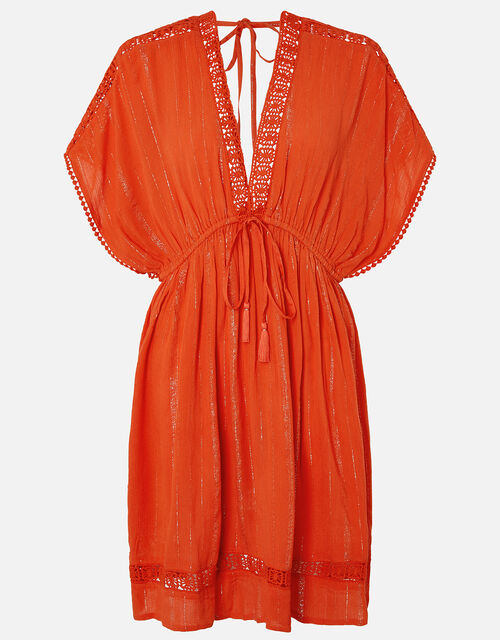 Lurex Kaftan with LENZING™ ECOVERO™, Red (RED), large