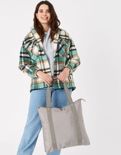 Packable Shopper Bag Grey, Grey (GREY), large