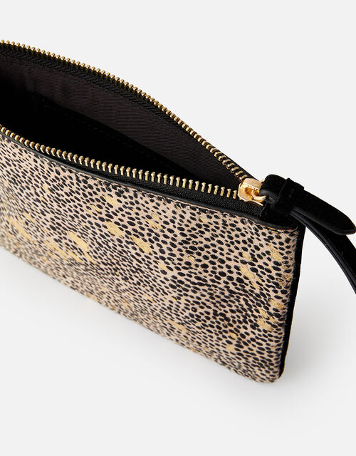 Animal Leather Foil Print Pouch , , large