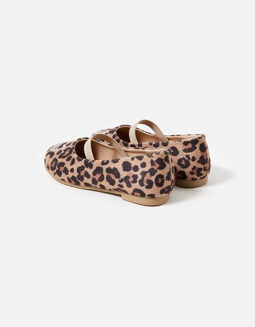 Leopard Print Cat Ballerina Flats, Leopard (LEOPARD), large