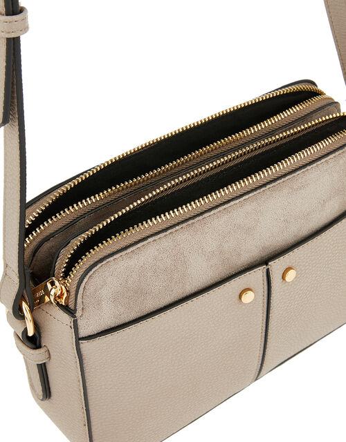 Charlotte Cross-Body Bag, Grey (GREY), large