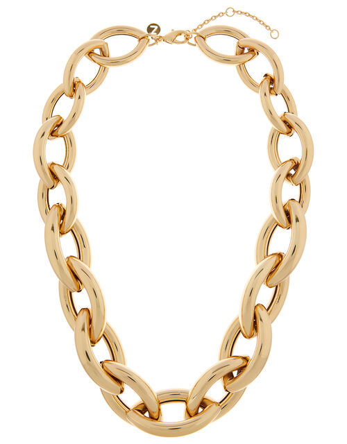 Gold-Plated Extra Chunky Chain Necklace, , large