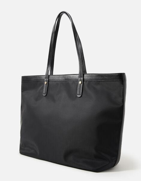 Tiffany Nylon Tote Bag Black, Black (BLACK), large