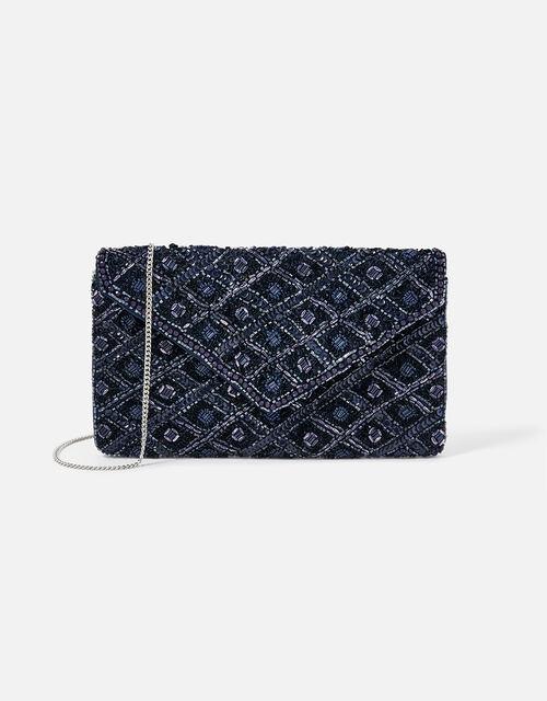 Tabitha Bead-Embellished Clutch Bag, , large