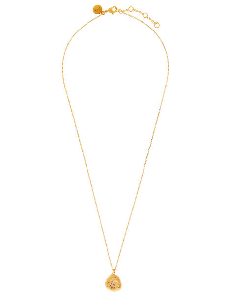 Gold-Plated Opal Zodiac Necklace - Leo, , large