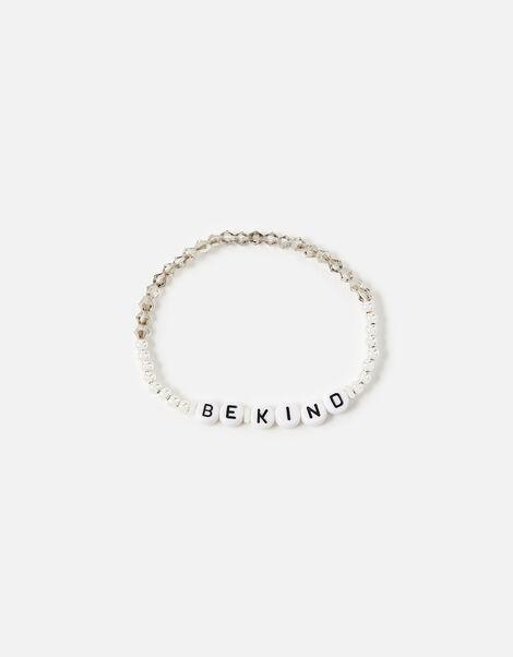Be Kind Stretch Bracelet  Silver, Silver (SILVER), large