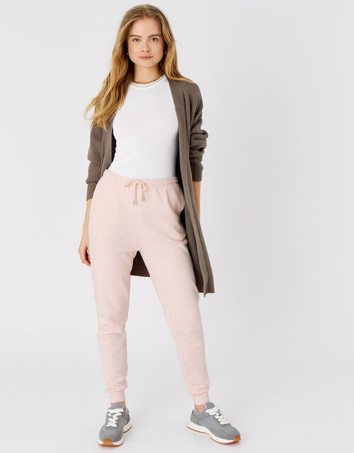 Lounge Sweat Joggers in Organic Cotton, Pink (PALE PINK), large