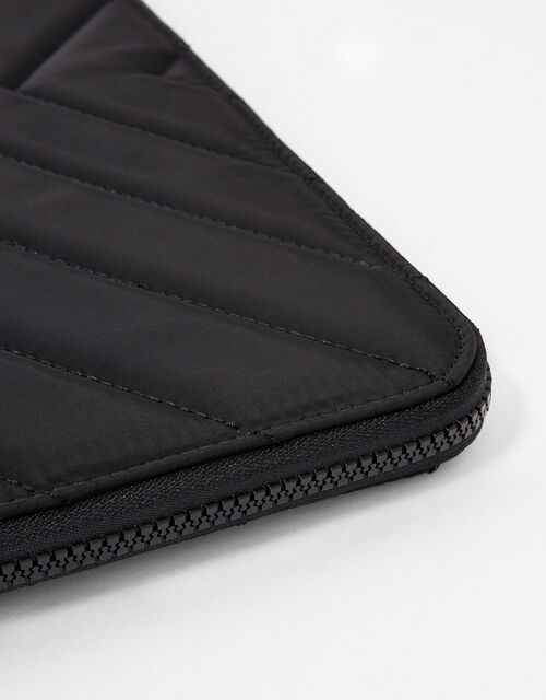 Quilted Nylon Laptop Case, Black (BLACK), large