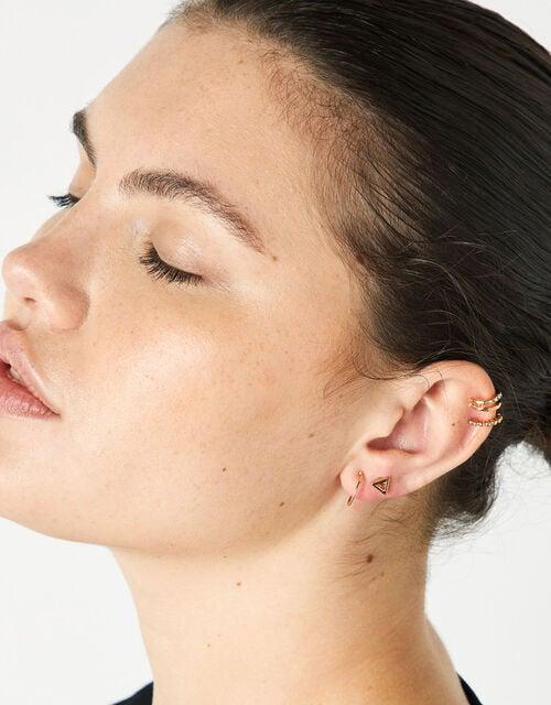 Mixed Shape Ear Stud and Hoop Multipack, , large