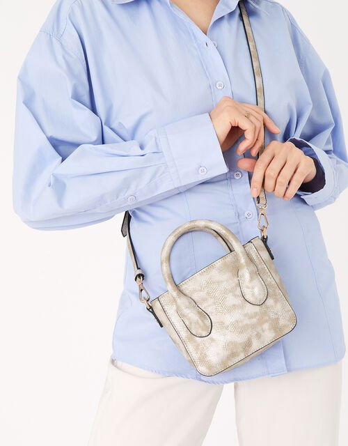 Mindy Snake Handheld Bag , , large