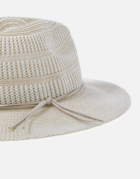 Packable Fedora Hat Grey, Grey (LIGHT GREY), large