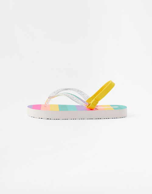 Rainbow Stripe Flip Flops, Multi (BRIGHTS-MULTI), large