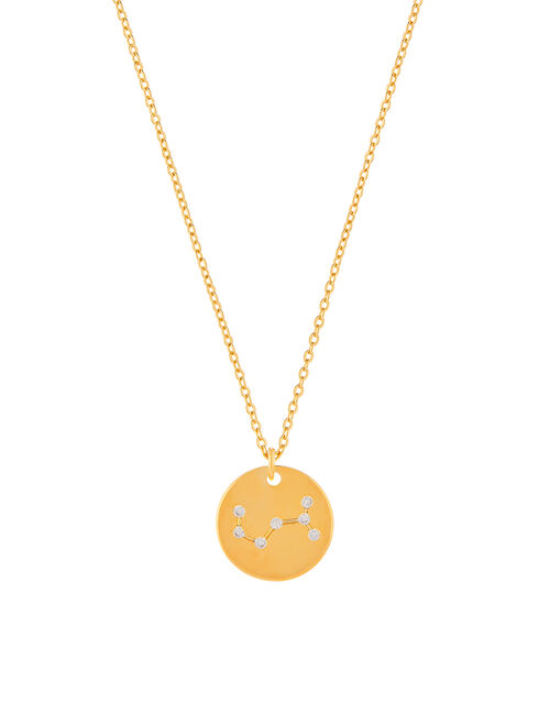 Gold-Plated Constellation Necklace - Scorpio, , large