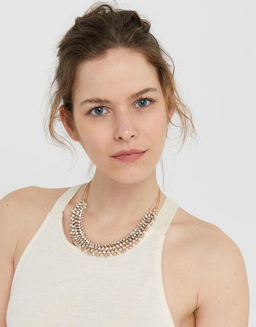Sarah Stone Bib Necklace, , large