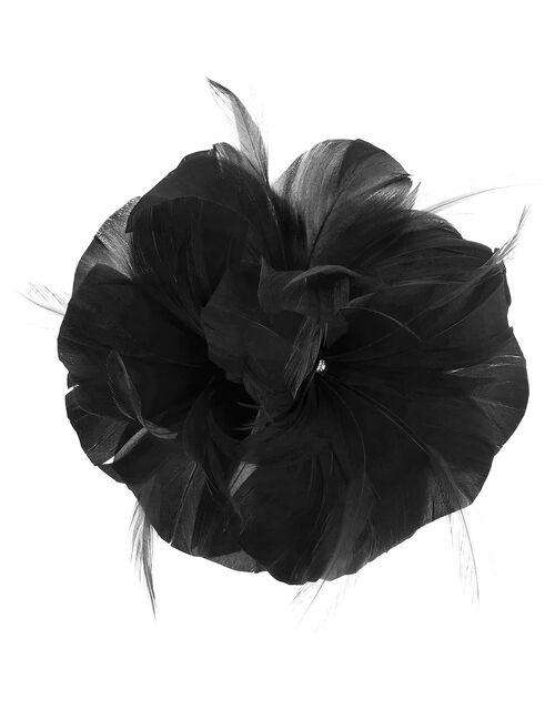 Abigail Net Bow Hair Clip, Black (BLACK), large