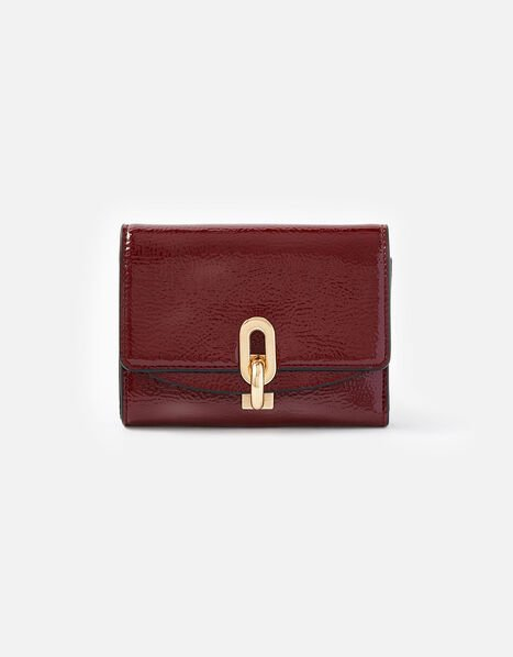 Patent Lock Purse Red, Red (BURGUNDY), large