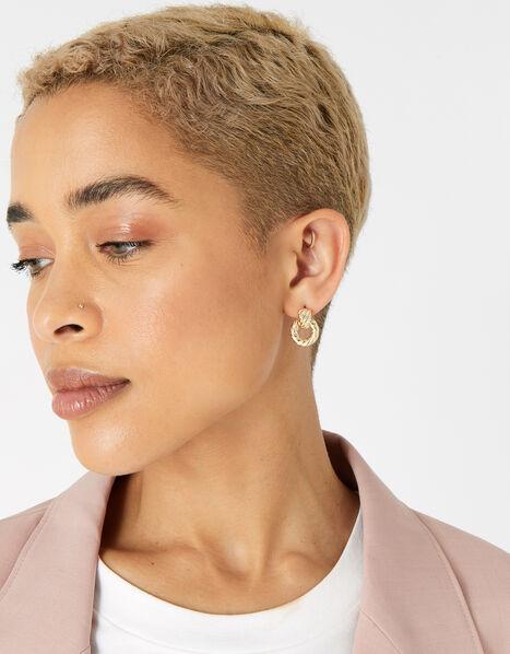 Berry Blush Twist Doorknocker Earrings, , large