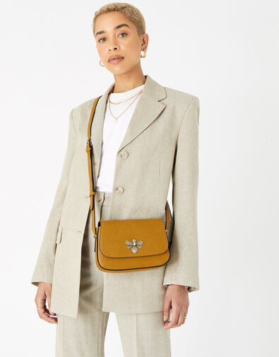 Britney Bee Cross-Body Bag  Yellow, Yellow (OCHRE), large