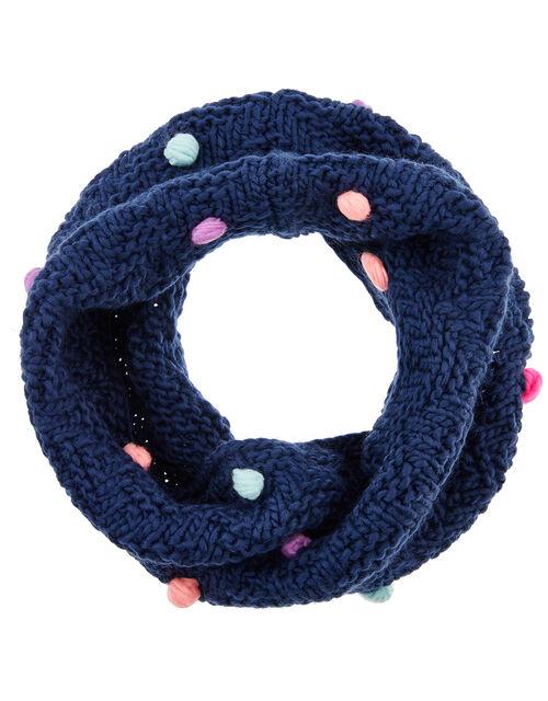 Pom-Pom Knit Snood, , large