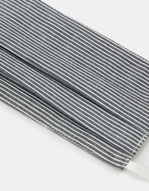 Stripe Face Covering in Pure Cotton, , large