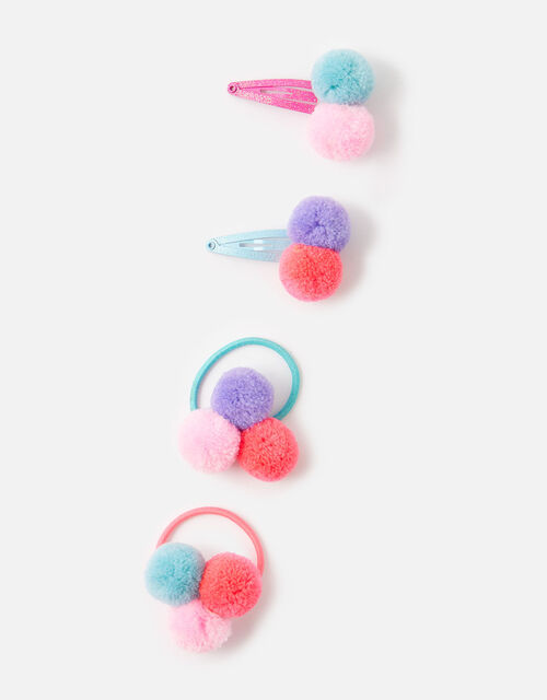 Pom-Pom Hair Accessory Set, , large