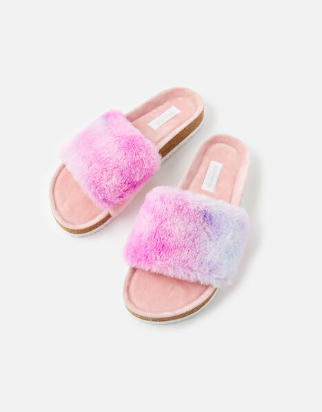 Symone Fluffy Slider Slippers Multi, Multi (BRIGHTS-MULTI), large
