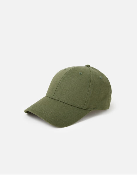 Linen Look Baseball Cap, , large