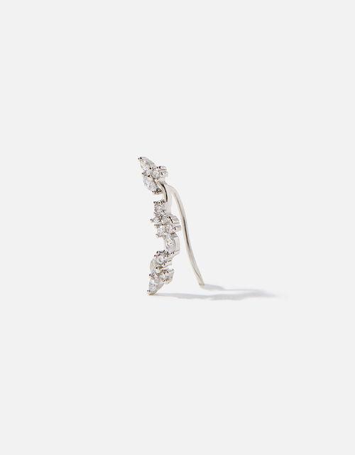 Platinum-Plated Sparkle Ear Crawler, , large