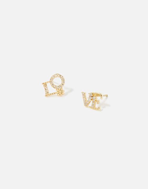 LOVE Stud Earrings, , large