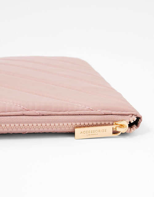 Quilted Nylon Laptop Case, Nude (NUDE), large