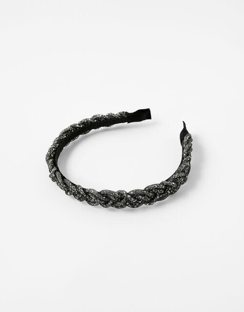 Crystal Tube Plaited Headband, , large