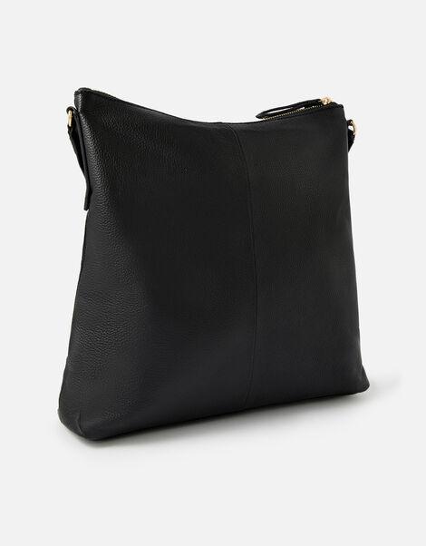 Large Leather Messenger Bag, , large