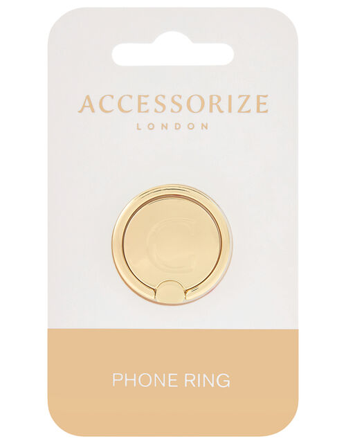 Metallic Initial Phone Ring - C, , large